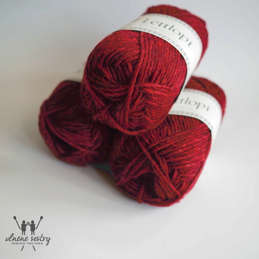 Léttlopi 1409 garnet red heather