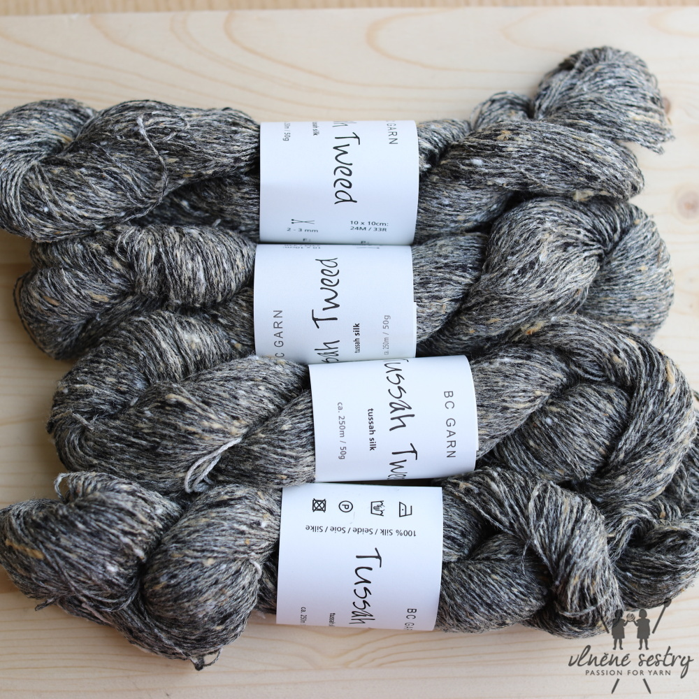Tussah Tweed 12  Grey Tweed Mix
