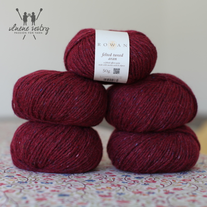 Felted Tweed Aran 732 Cherry