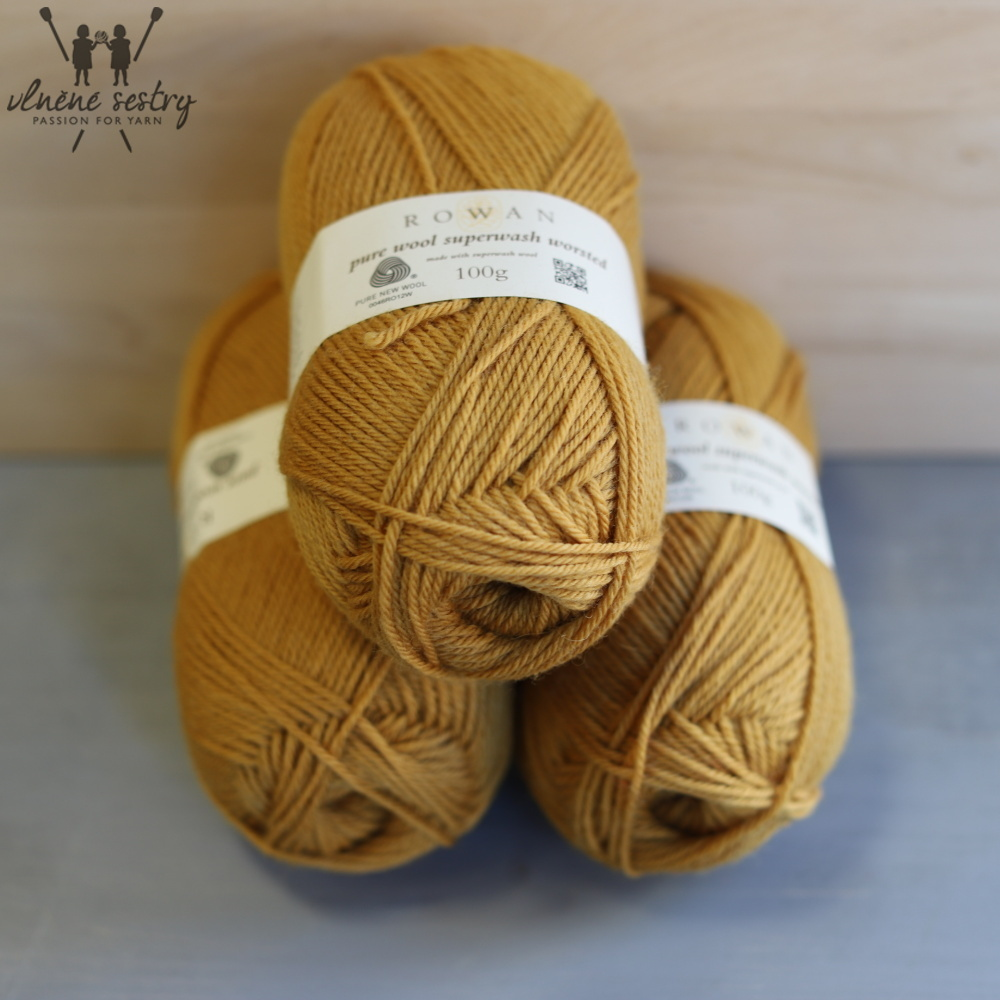 Pure Wool Worsted 133 Gold