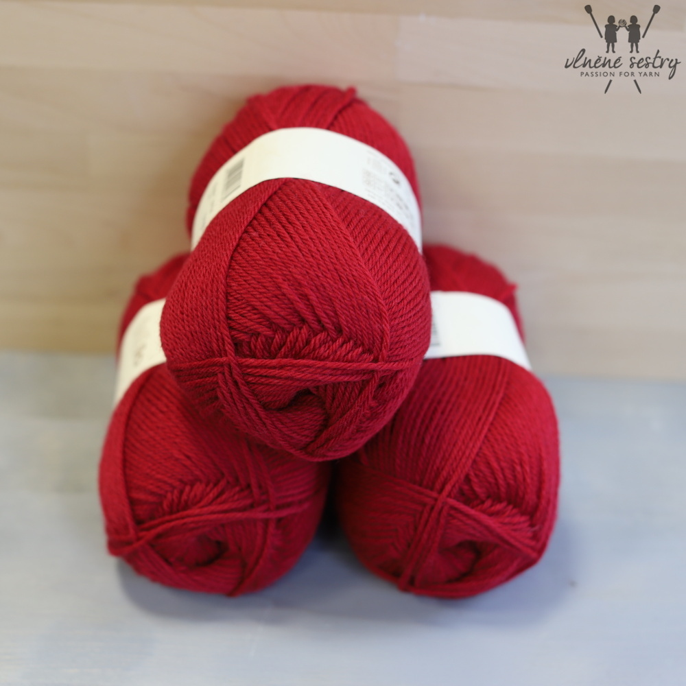 Pure Wool Worsted 124 Rich Red