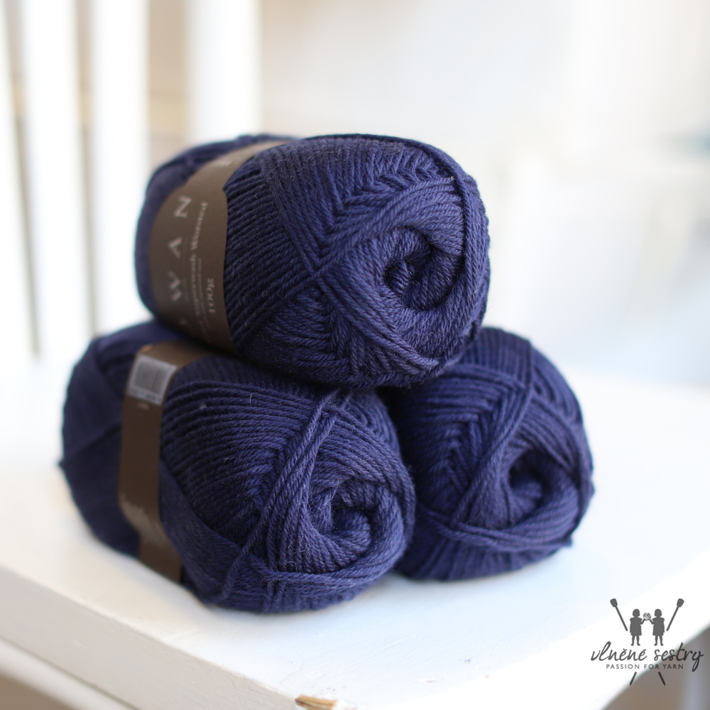 Pure Wool Worsted 149 Navy