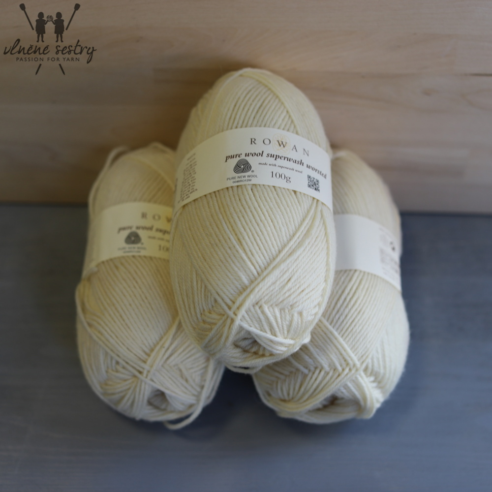 Pure Wool Worsted 102 Soft Cream