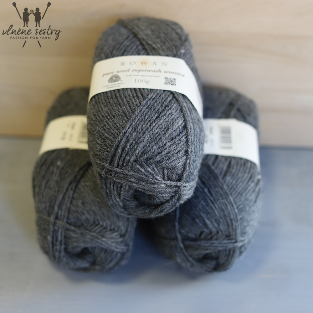 Pure Wool Worsted 111 Granite