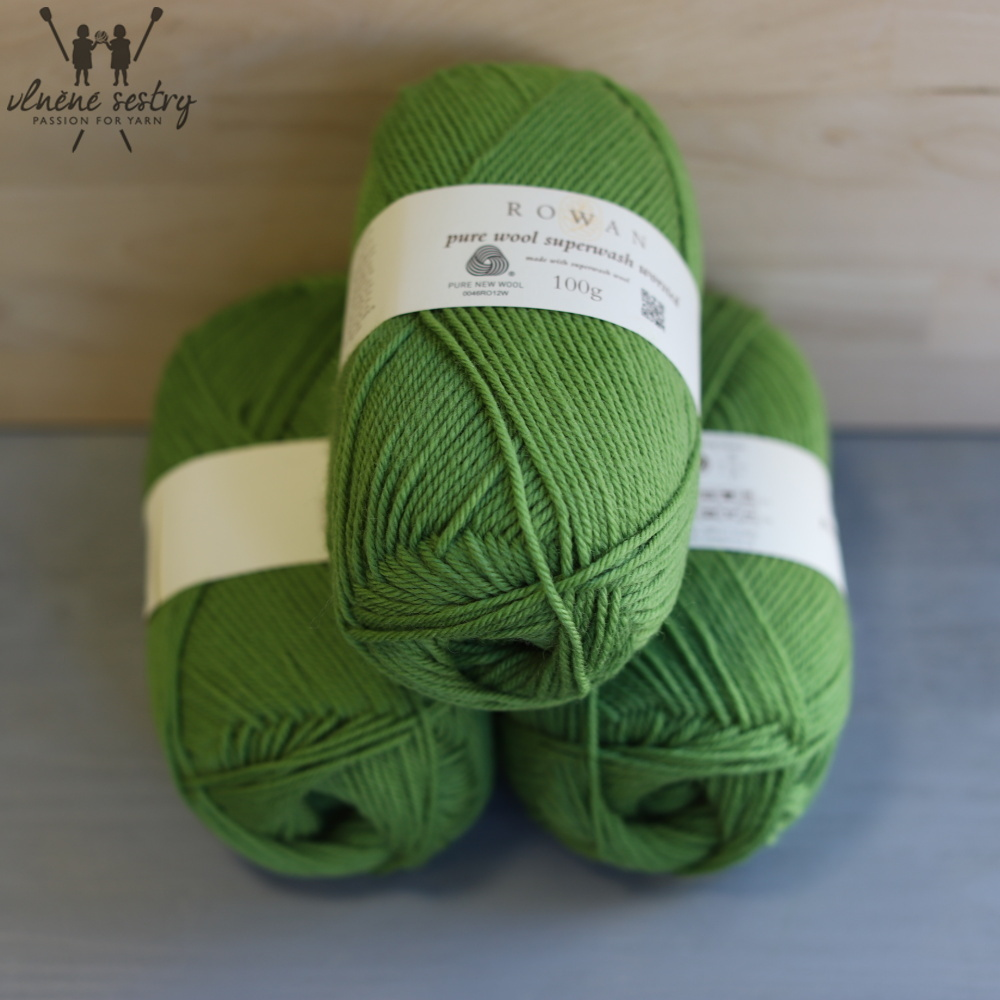 Pure Wool Worsted 125 Olive