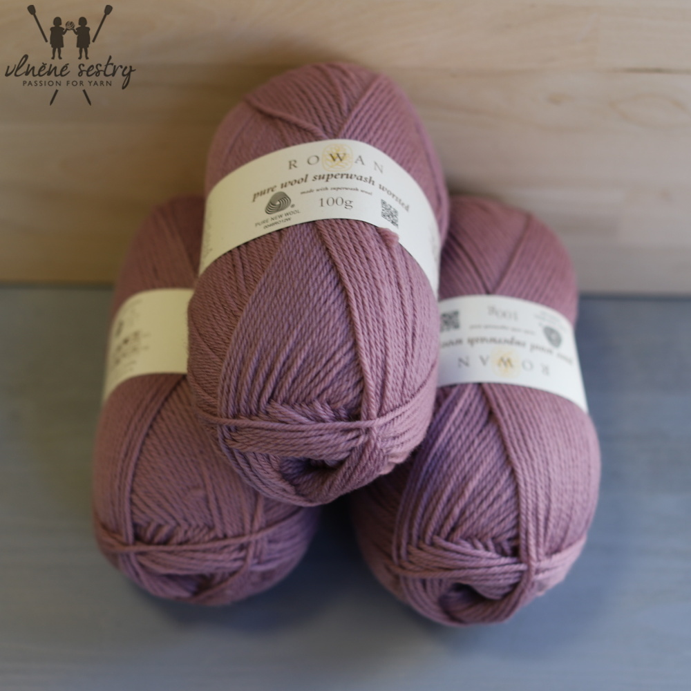 Pure Wool Worsted 191 Mauve Mist