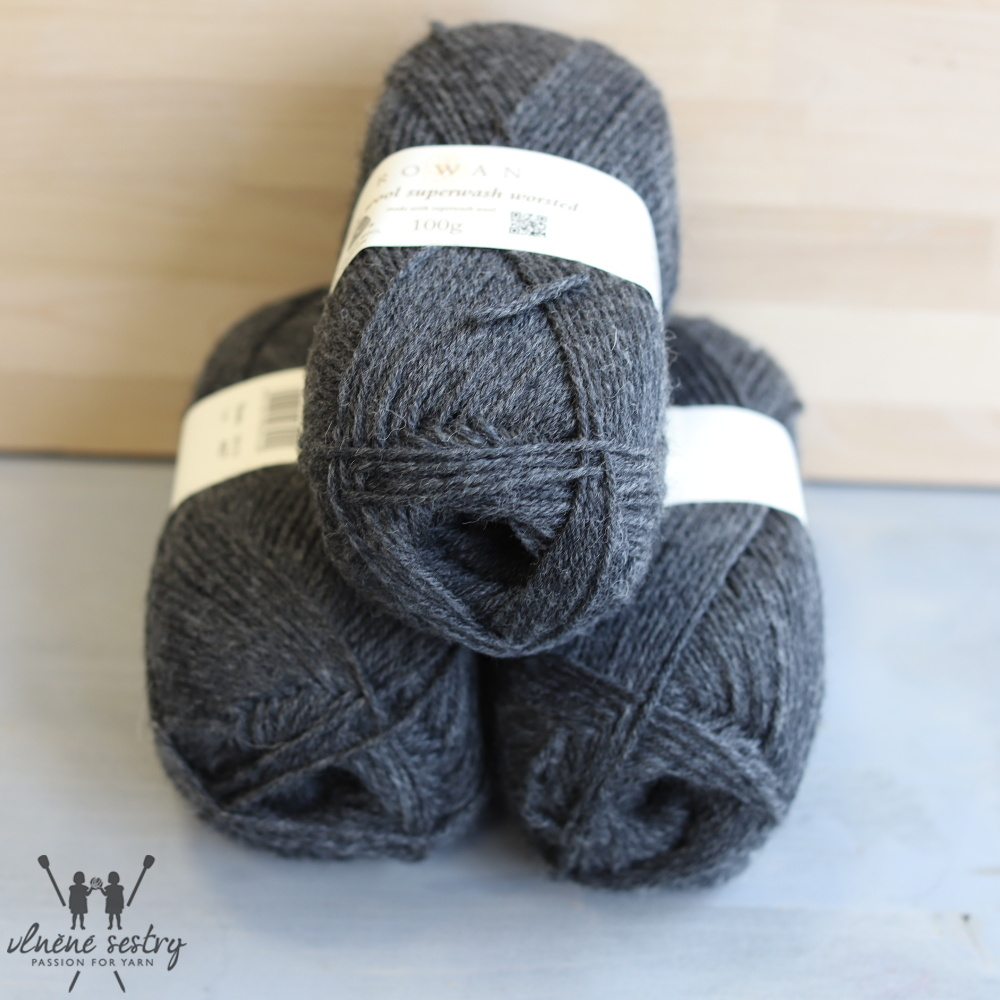Pure Wool Worsted 155 Charcoal