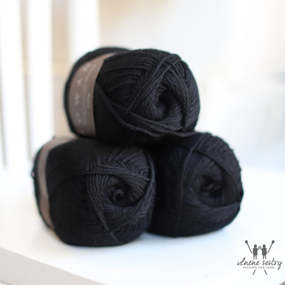 Pure Wool Worsted 109 Black