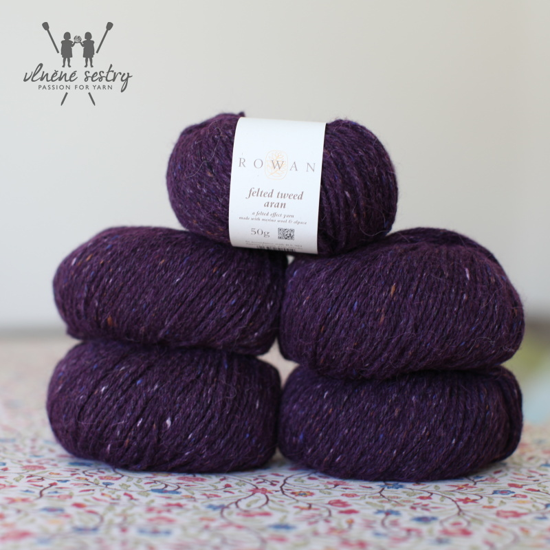 Felted Tweed Aran 731 Plum